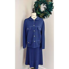 Women's Vintage 1960's Castleberry London Jackie O' Skirt Suit