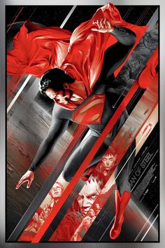 Man of Steel Mondo Posters. Mondo unveils gorgeous new Man of Steel posters by artists Martin Ansin and Ken Taylor. Alex Ross, Clark Kent, Mundo Superman, Costume Rouge, Ken Taylor, New 52, Univers Dc, Film Disney, Superman Man Of Steel