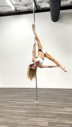 Pole Dance Moves, Pole Dancing Fitness, Dance Poses, Pole Fitness, Gymnastics Workout, Yoga Photos, Shoulder Workout, Dance Studio, Dance Videos