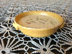 Take vegetable leftovers in fridge (this is red pepper stuffing leftovers) and add 1 can coconut milk and one can organic chicken broth and you have creamy savory, healthy amazing soup!  Ultimate comfort!