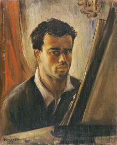 .:. Ζαχαρίου Φώτης – Fotis Zachariou [1909-2001] Αυτοπροσωπογραφια, 1937