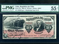 Chile:P - 21b,10 pesos, 1916 Chile, Business Checks, Old Coins, Showroom, Personalized Items, Paper, Movie Posters, Weights, Auction