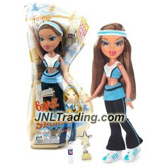 MGA Entertainment Bratz Play Sportz Series 10 Inch Doll - YASMIN (B-Shape Packaging) in Fitness Outfit with Earrings, Water Bottle and Trophy