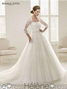 Ball-Gown Sweetheart Chapel Train Lace Beading Sequins Satin Tulle Zipper  Up Covered Button Sleeves Sleeves Church General No Winter Spring Fall  Ivory ... bf569919eb21