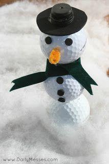 Daily Messes: Golf Ball Snowman