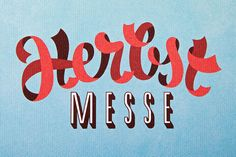 Herbst-Messe - live the ribbon type! That is really hard to do... Trust me!
