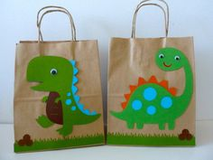 DINOSAURS goodie bag by creationsbychoco on Etsy, $25.00