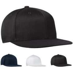 Port Authority® Flexfit® flat bill cap...The patented poly-weave spandex ensures you get a superbly comfortable fit, while the flat bill keeps you looking up-to-date. Port Authority(R) Flexfit(R) structured high profile flat bill cap made of 83/15/2 acrylic/wool/spandex blend.