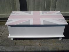 After: Shabby Chic Union Jack coffee table Shabby Chic Union Jack, Toy Chest, Coffee, Toys, Storage, Table, Projects, Furniture, Home Decor