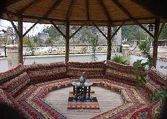 traditional turkish seating area - Google zoeken Floor Seating, Outdoor Seating Areas, Patio Seating, Garden Seating, Outdoor Spaces, Outdoor Living, Outdoor Decor, Garden Sofa, Garden Furniture