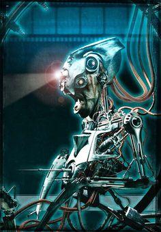 cyberpunk, robot, cyborg