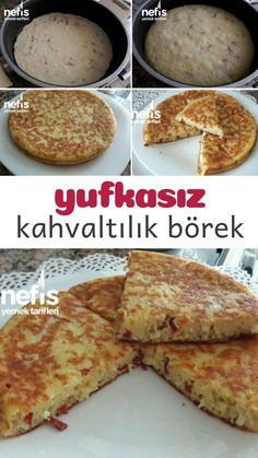Yufkasız Kahvaltılık Börek – Nefis Yemek Tarifleri How to make a Pastry Breakfast Pastry Recipe? Yummy Recipes, Dinner Recipes, Cooking Recipes, Yummy Food, Pastry Recipes, Pie Recipes, Breakfast Pie, Breakfast Pastries, Breakfast Recipes