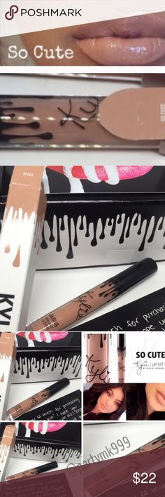 """Kylie Jenner SO Cute Lip Gloss Ready to ship l Kylie Jenner lip gloss in the color """"so cute"""" this is my last one ready to ship 100% authentic Kylie Jenner cosmetics. enriched with Vitamin D emollients for moisturizing. Long Wearing  This is my best price! Prce Firm Kylie Cosmetics Makeup Lip Balm & Gloss"""