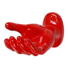 Hanging Hand Red, $49, now featured on Fab.  Fabulous in a quest bath as a towel rack!