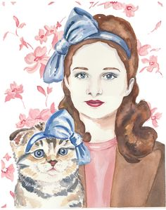waterinmypaint:  Title: Cat Lady: Beatrice