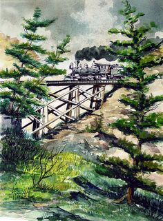 Crossing The Gap Painting by Sam Sidders - Crossing The Gap Fine Art Prints and Posters for Sale