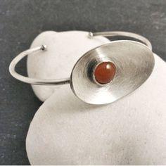 OVAL  recycled sterling silver spoon carnelian by SusannaSegerholm, $69.00