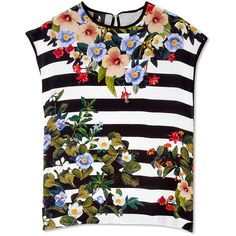a5132847ad1 Nice Shirt. See more. TOPSELLER! Mother of Pearl Decoy Flowers Stripe Silk  Front Top  205 Striped Tank Top