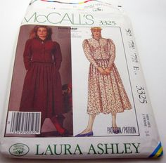 Sewing Pattern-McCall's 3325 Girly Lolita Dress Long Size 14 Vintage 1987 by erikaschiquisjewelry on Etsy