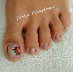 Unhas dos pés decoradas Gigi Nails, Popular Nail Art, Manicure Y Pedicure, Dope Nails, Beautiful, Light Nails, Blue Nails, Nail Colors, Perfect Nails