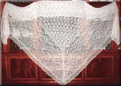 Gossamer Triangular Shawl is knit in Shetland 1 ply wool and is the result of about 400 hours of knitting. Traditionally, shawls cannot be named as Shetland shawls in Scotland, unless they can pass entirely through a wedding ring. Lace Knitting, Crochet Lace, Shawl Patterns, Knitting Patterns, Knitted Shawls, Lace Shawls, Nose Warmer, Stitch Witchery, Yarn Inspiration