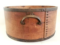 During the earlier years, wooden buckets similar to this one were common for measuring dry ingredients. This larger, dry grain measure from the late 1800's constructed of bentwood, still retains its original dry surface, iron side handles and metal bands. Early Americana dry measures as nice as this one are becoming challenging to find! Buckets, Metal Bands, Accent Pieces, Larger, Grains, Surface, Handle, Iron, The Originals