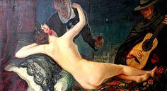 La Música, el Vino y la Mujer, óleo 1916. More here https://www.facebook.com/G.O.W.Apperley