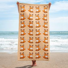Give your bathroom a vibrant look and wrap yourself up with this super soft and cozy all-over sublimation towel. Lovely fox towel for all who love fox. Is this fox bath towel for you or is the fox beach towel a present?
