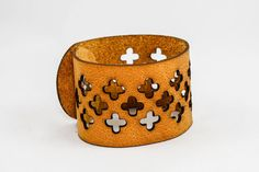 Leather Cuff - Cross Cutouts