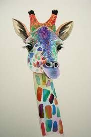 Image result for abstract giraffe paintings