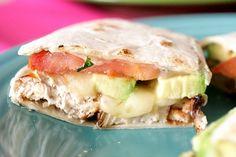 Chicken, Avocado and Tomato Quesadillas ~