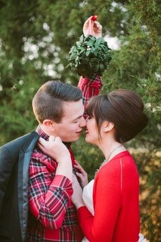 cute christmas photo shoot...would be cute having kids standing on chair and holding the mistletoe:)