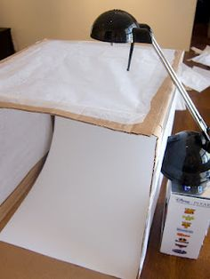 DIY lightbox tutorial by Chalkboard Nails. This one isn't collapsible, so I'm combining this with the foam core tutorial on this board. # www.SimpleNailArtTips.com