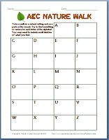 Take an ABC Nature Walk! Here is a fun and free activity to use with your kids!