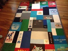 Tshirt quilt made from running shirts