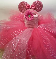 Minnie Mouse Themed Tutu Dress In Pink Polka by LiseFashionDesigns, $64.99