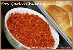 Dry Garlic Chutney is a very versatile and all purpose Maharashtrian(State of India) condiment recipe. But it is famous for Vada Pav. Its signature condiment for Vada Pav. This is a dry textured chutney, prepared from garlic, coconut, sesame seeds and spices. This chutney can be rolled with a plain chapati or Roti as a snack. This chutney is also taste nice with Dosa or Adai Dosa.