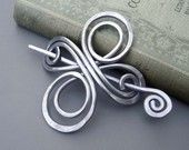 Celtic Knot Cross Shawl Pin / Scarf Pin / Sweater Brooch / Hair Pin -  Infinite Swirl - Light Weight Aluminum