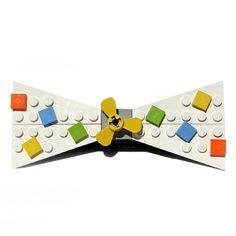 Block Confetti Tie White