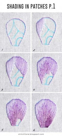 Needlepainting tips part 5: shading in patches  #embroidery #handembroidery #stitch #tutorials #needlework #embroiderystitchestutorials