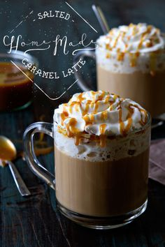 Treat yourself to a Homemade Salted Caramel Latte today from @bakingaddiction