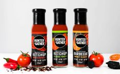 Hunter & Gather launches three unsweetened ketchups in UK - FoodBev Media Cooking Avocado, Food Packaging Design, Mct Oil, Natural Sugar, Ketchup, Whole Food Recipes