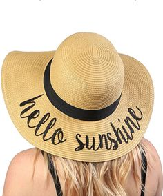 s Bold Cursive Embroidered Adjustable Beach Floppy Sun Hat online. Shop the  latest collection of Funky Junque Women s Bold Cursive Embroidered  Adjustable ... 09b1fa04cec