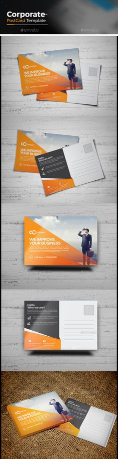 Corporate Business Postcard Template Vector EPS, AI. Download here: http://graphicriver.net/item/corporate-business-postcard/15024088?ref=ksioks