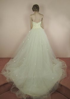 Ivory Wedding Dress 90's Vintage bridal by ValenVintageWedding