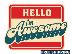 Awesome sticker.Be Awesome Bumper sticker. Laptop by elaineprints