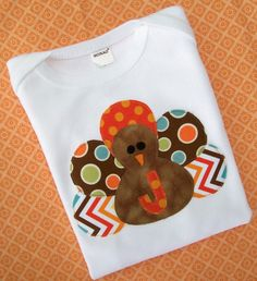 Turkey Appliqued Shirt   Boy   Long or by thatstoocuteboutique, $19.00