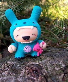 Cute Monster Kid Custom Dunny | Toys (Dunny's) | Pinterest