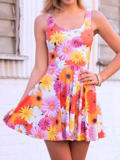 Peace and Love Scoop Skater Dress (WW 48HR $85AUD / US - LIMITED $68USD) by Black Milk Clothing