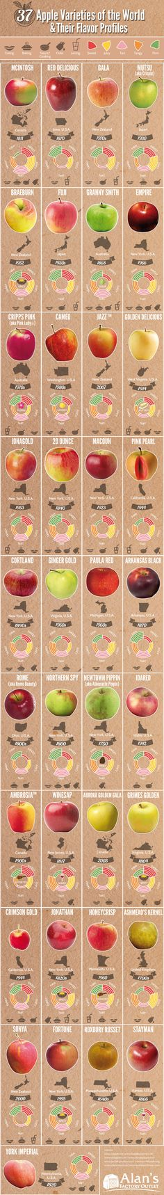 37 Apple varieties and their flavor  profiles